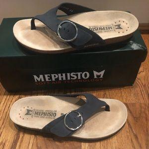 Mephisto Natalina Navy Sandals Size 8